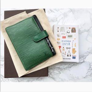 Louis Vuitton Green Epi Leather Planner